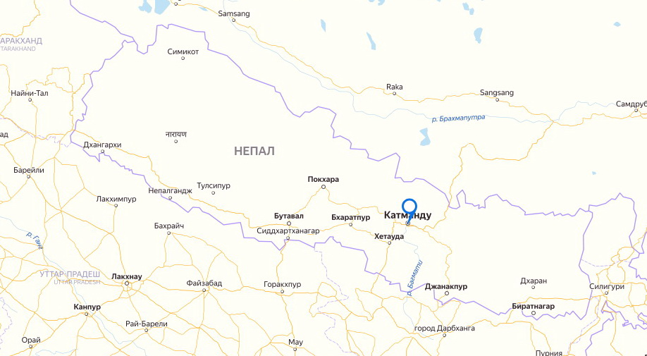 Катманду находится здесь