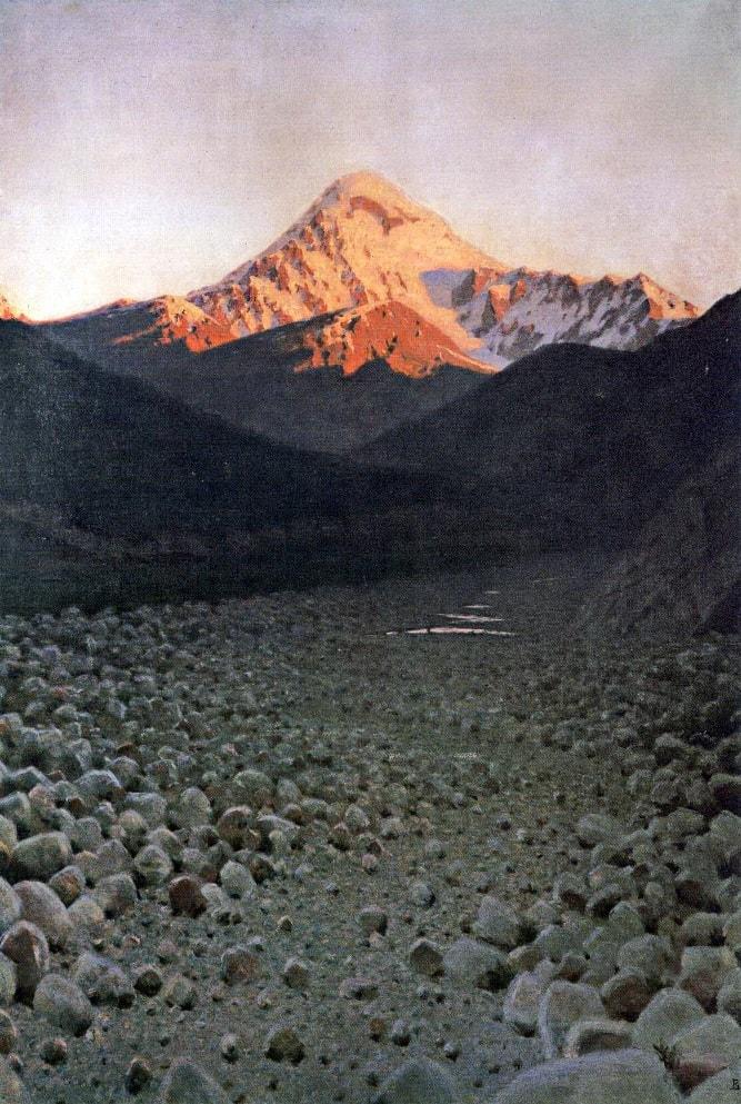 Картина В.Верещагина «Гора Казбек»