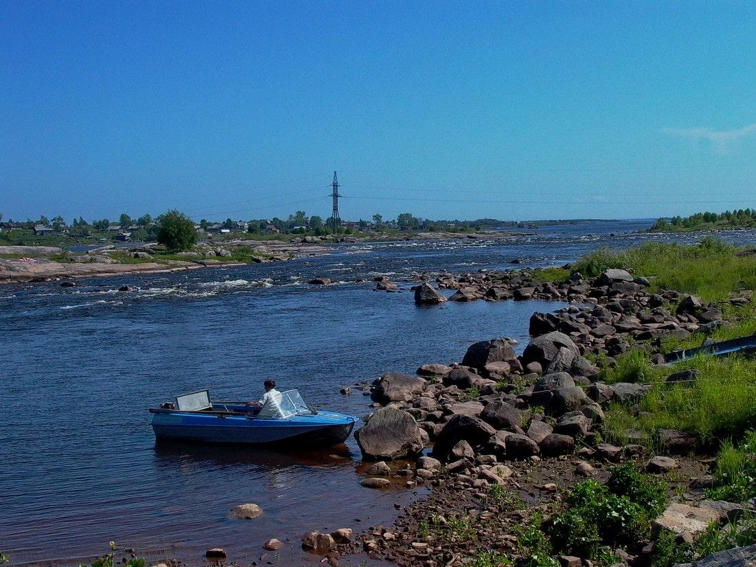 Устье реки Кемь