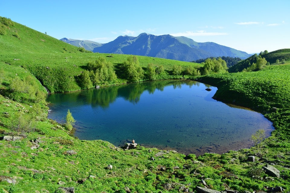 Размеры озера невелики
