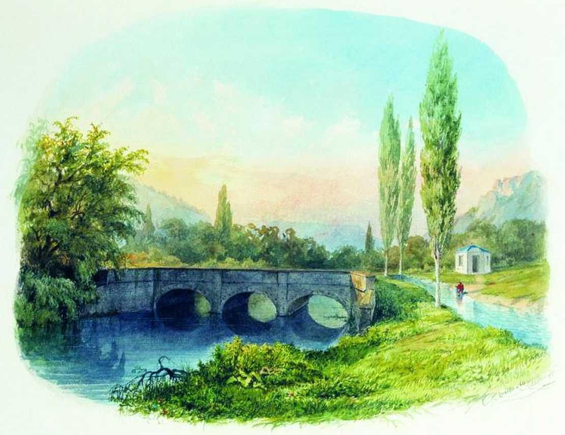 Л. Ф. Лагорио. Чоргуньский мост-акведук. 1850 год