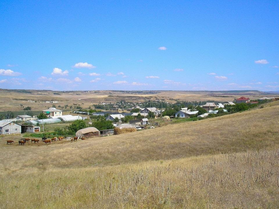 На мысе расположены два села