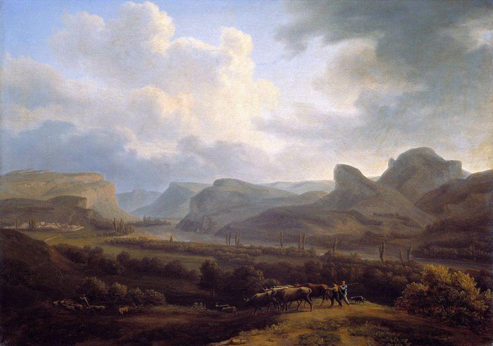 Так выглядела Бельбекская долина в 1818 году. Картина Жака-Кристофа Мивилля
