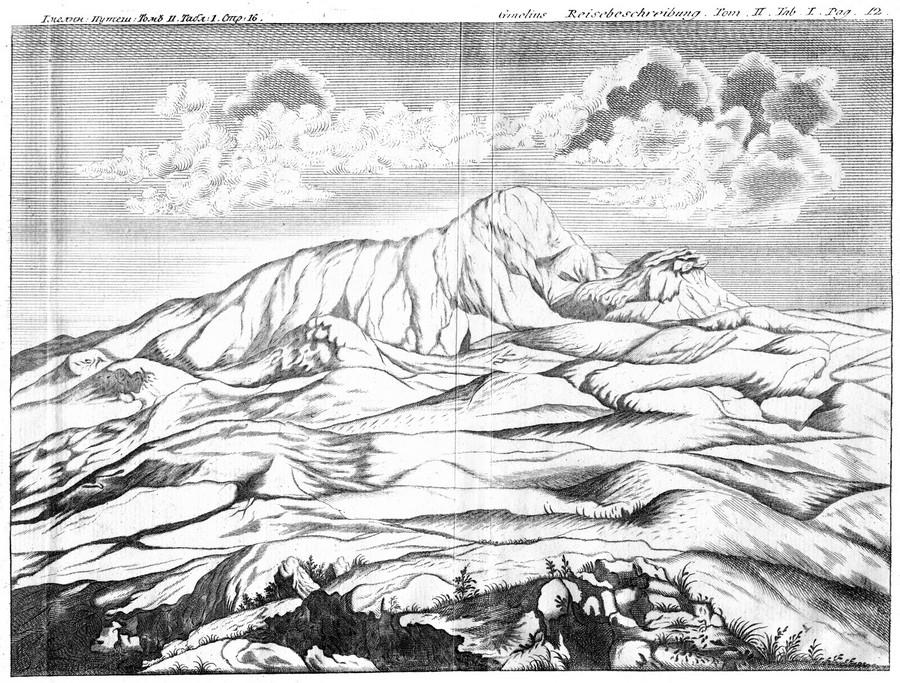 Так в XVIII веке исследователи изображали Большое Богдо