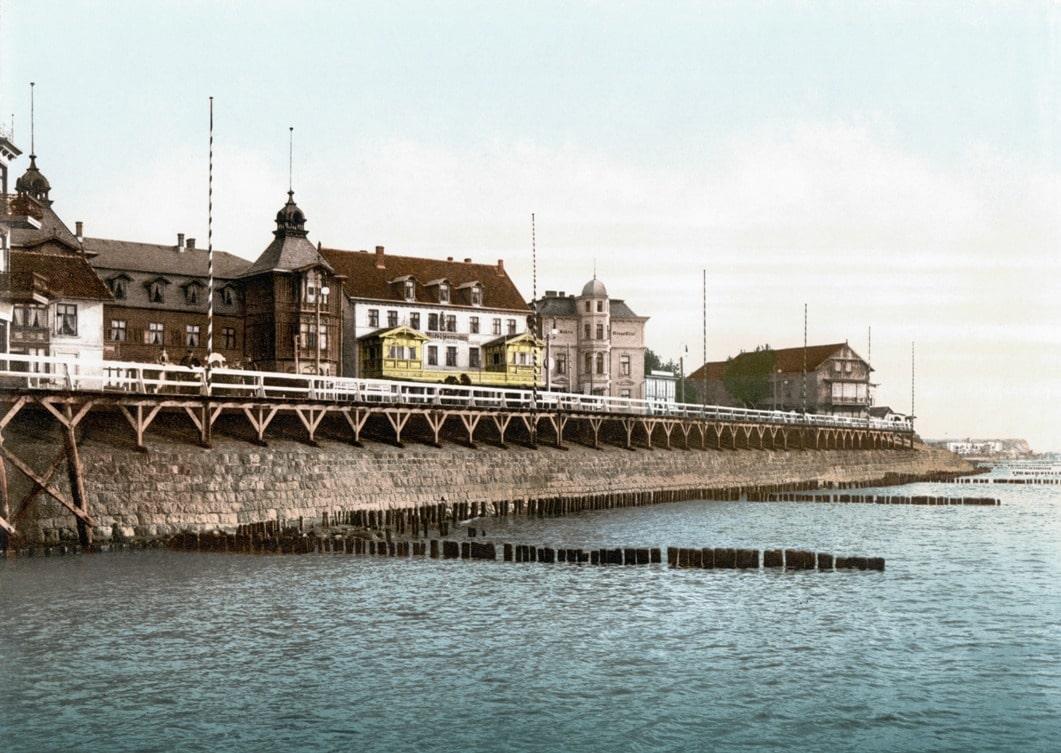 Набережная в Кранце, 1900 год