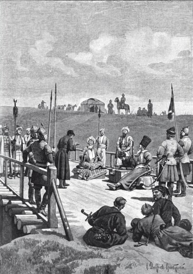 Период Крымского ханства, 1593 г. Картина Н. Дмитриев-Оренбургского