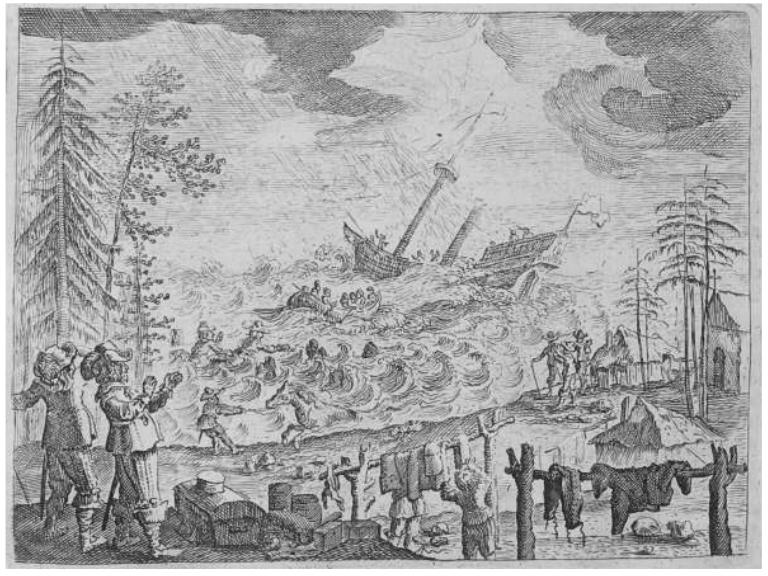 Кораблекрушение возле Гогланда из книги Адама Олеария
