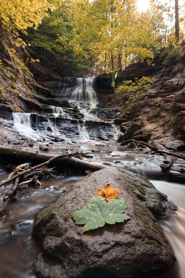 В окрестностях скалы Киселева есть несколько водопадов