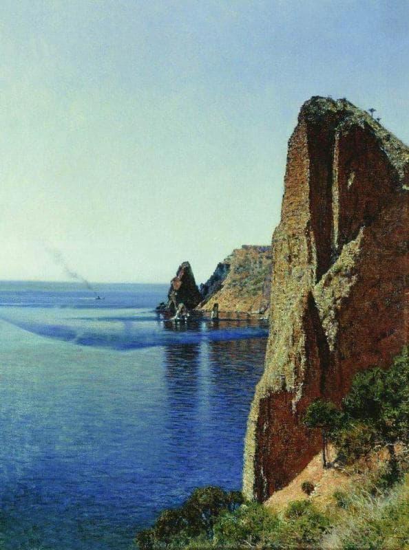 Картина В. Верещагина, «Мыс Фиолент вблизи Севастополя», 1897 год