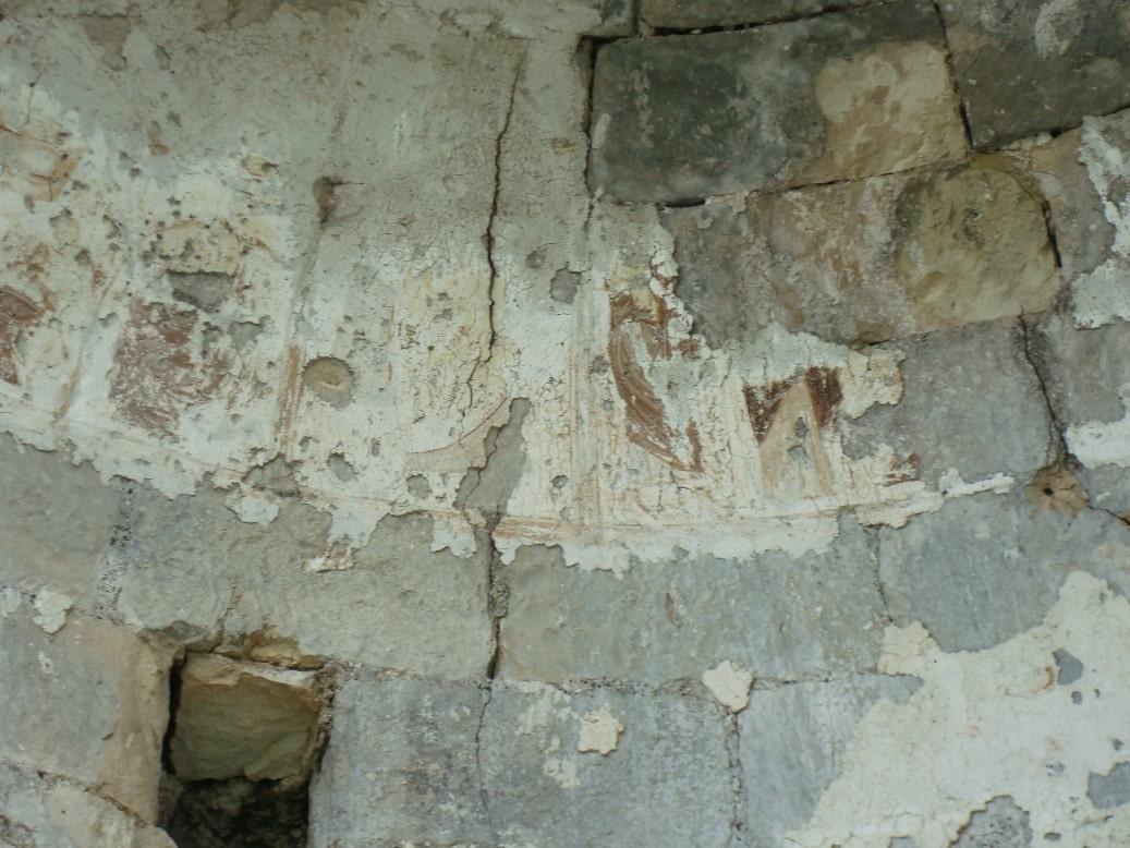 Остатки росписей капеллы в башне Сюйреньской крепости