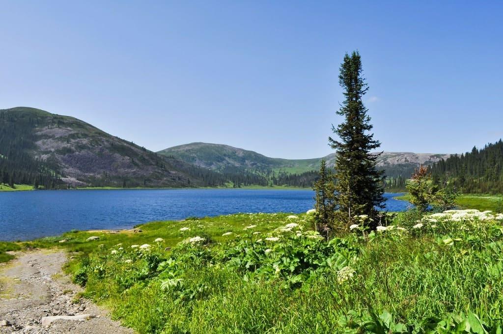 Парк украшают маленькие живописные озера