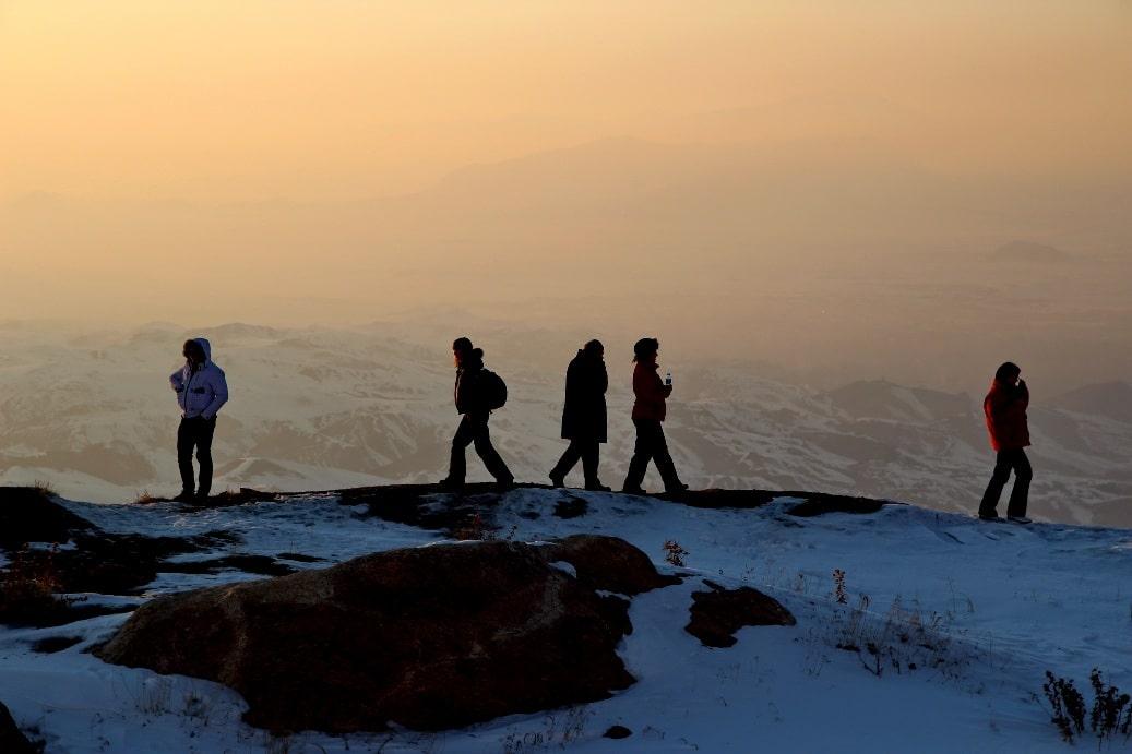 Горы на закате солнца