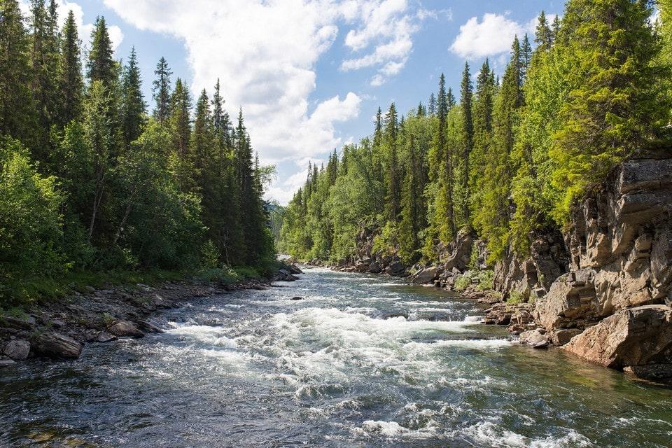 Порожистый характер реки сделал ее популярной среди любителей сплавов