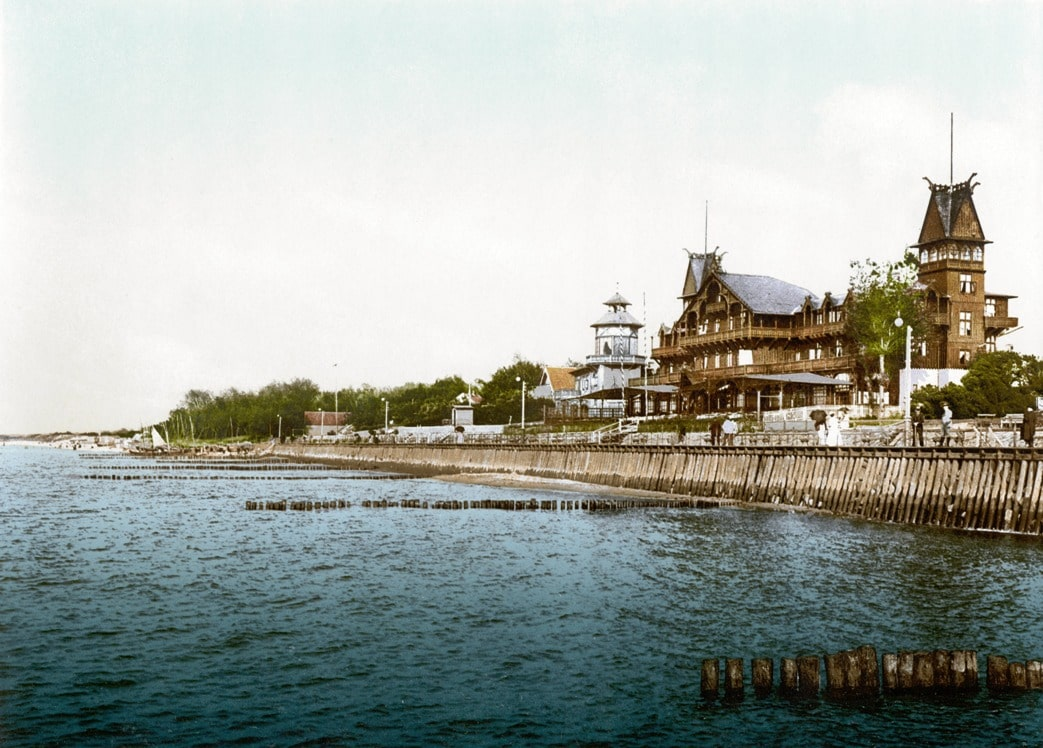Типичная архитектура Кранца конца XIX века