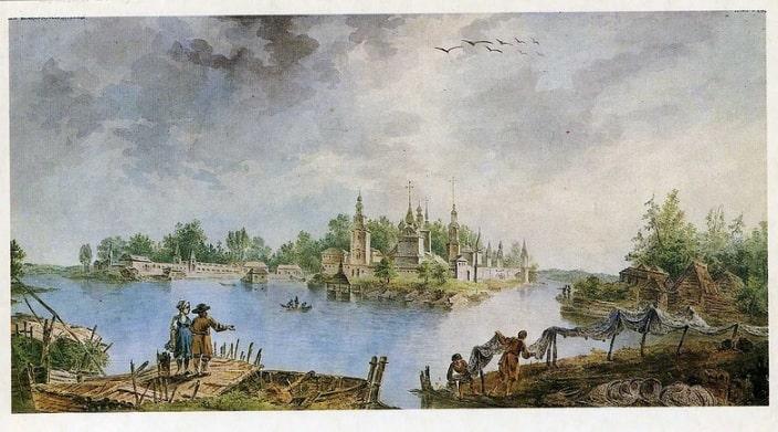 Так выглядел монастырь в 1789 году