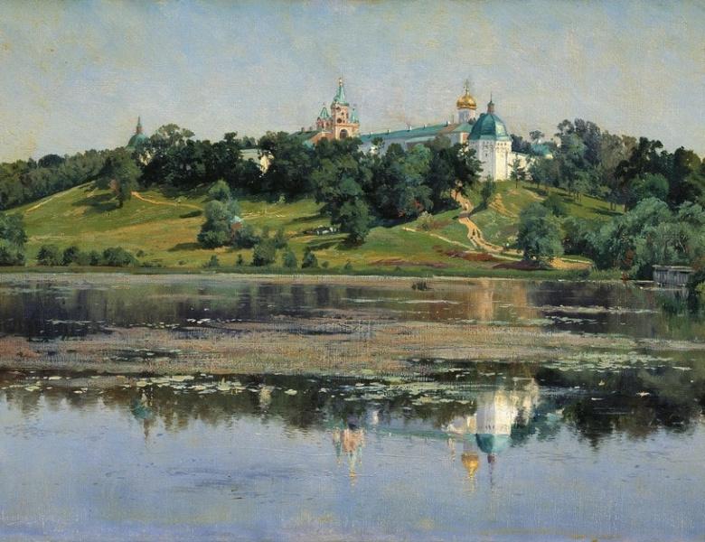 Звенигород. Картина К. Крыжицкого, 1895 г.