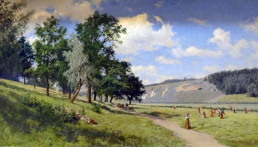Картина А.Киселева «Сенокос», 1894 г.