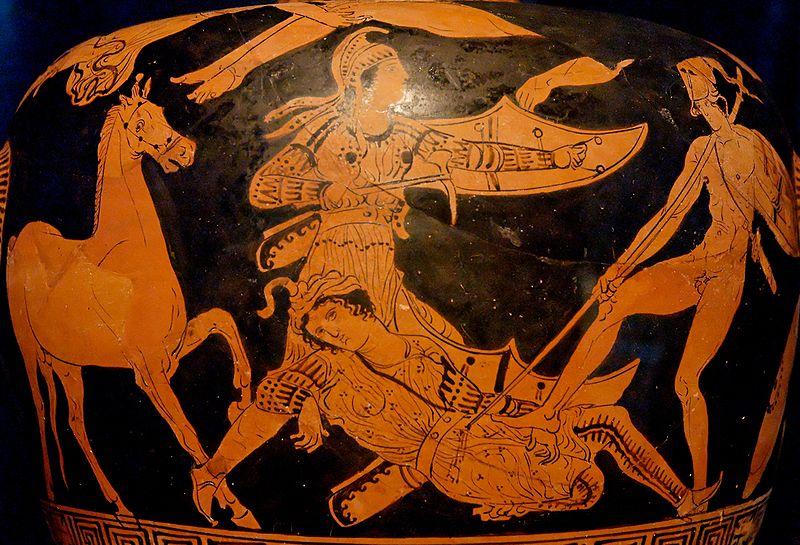 Сцена из «Илиады» с участием ликийцев