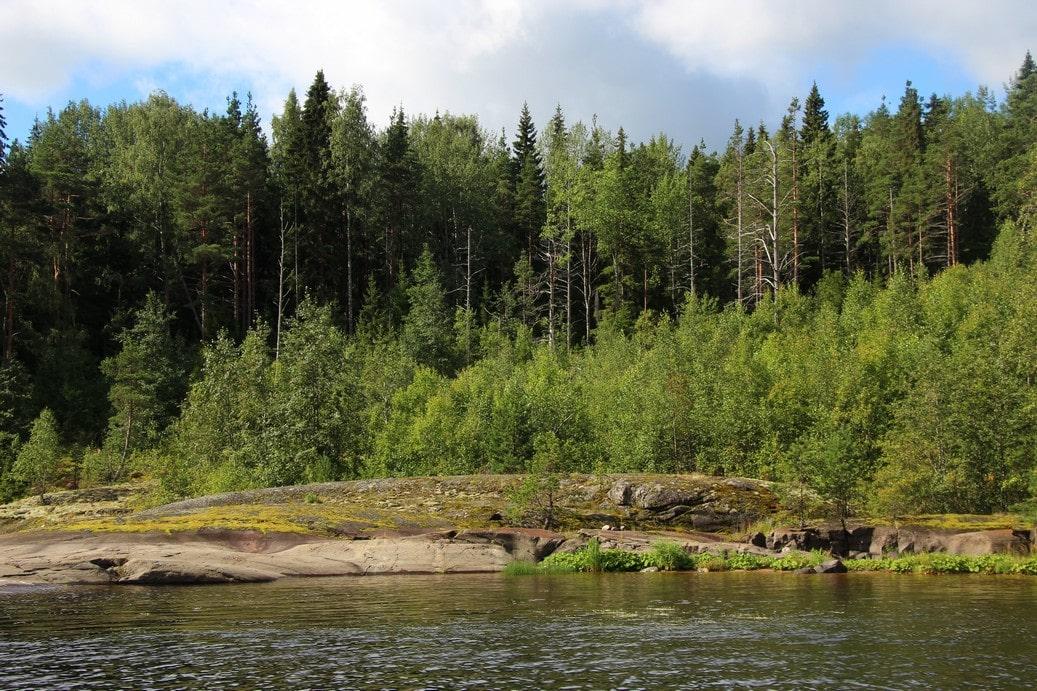 Река течет вдали от населенных пунктов