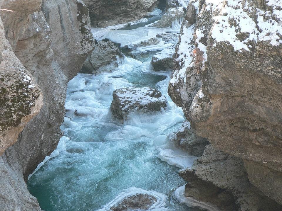 Чернореченский каньон зимой