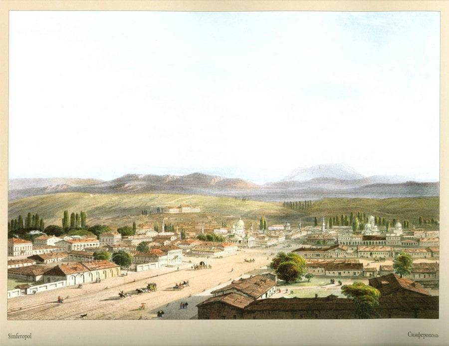 Так выглядел Симферополь в 1856 году. Картина итальянского живописца Карло Боссоли