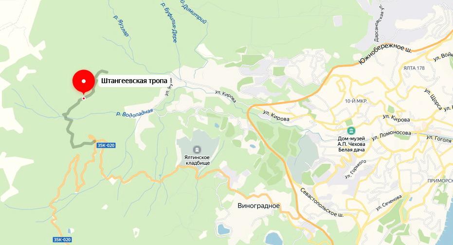 Штангеевская тропа находится здесь