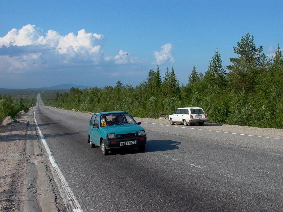 С «большой землей» Апатиты связывает федеральная трасса «Кола»