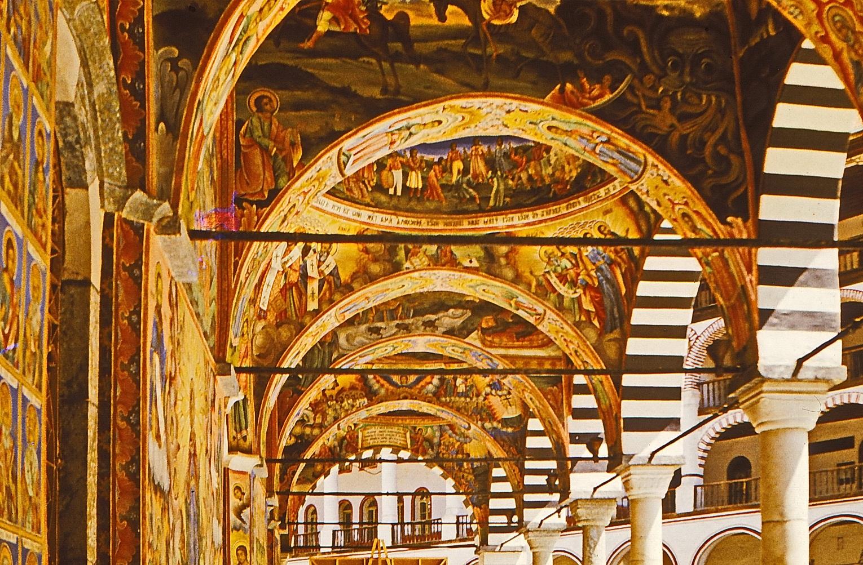Роспись храмовой галереи