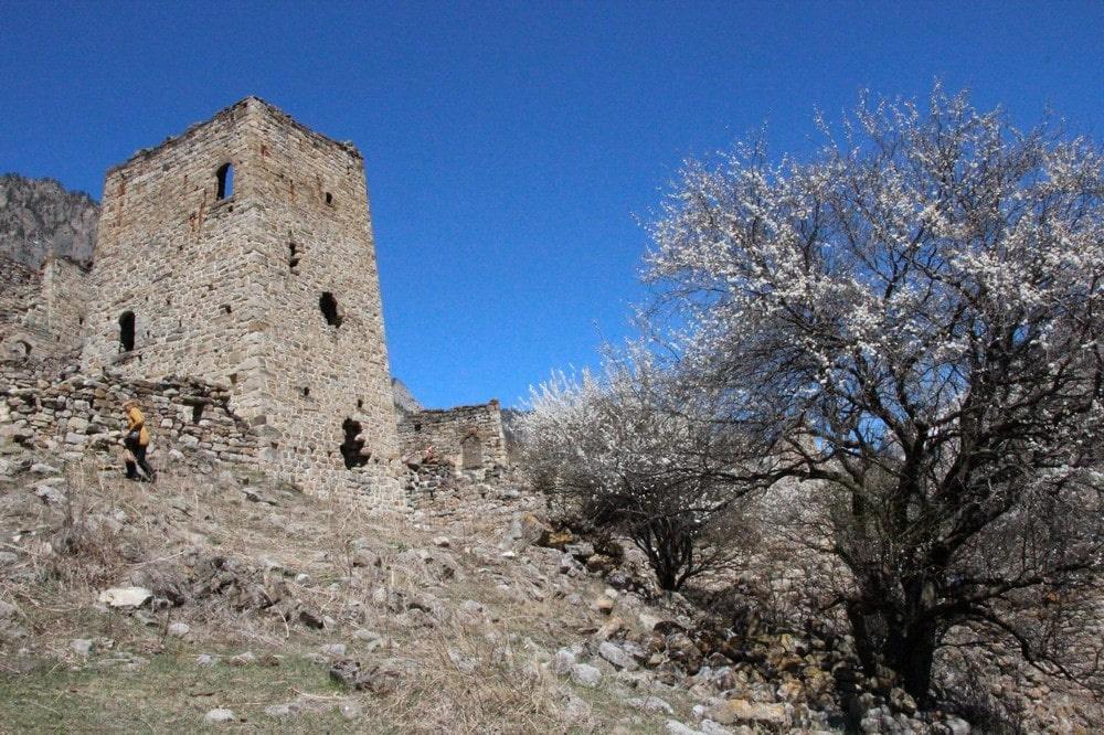 В окрестностях озера можно увидеть древние родовые башни