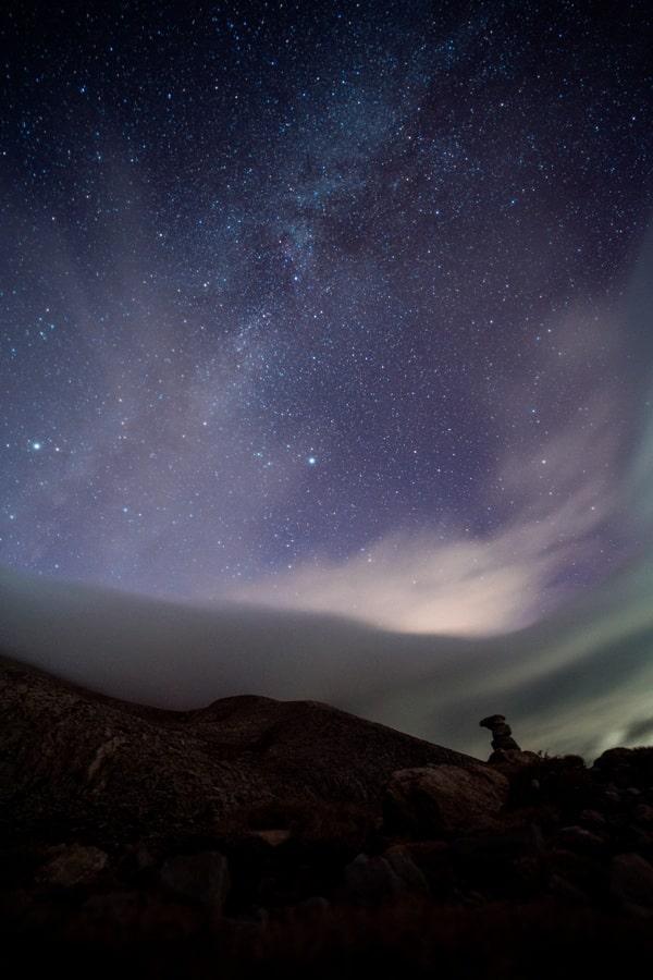 Ночное небо над Олимпом
