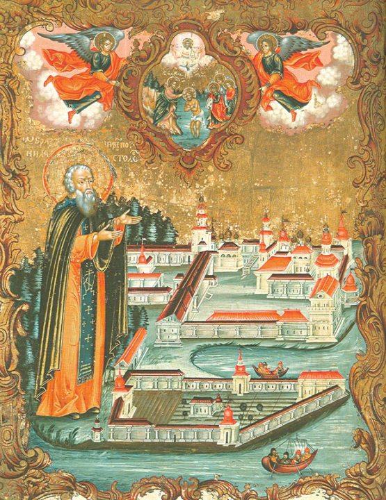Нил Столобенский (фрагмент иконы 1771 года)