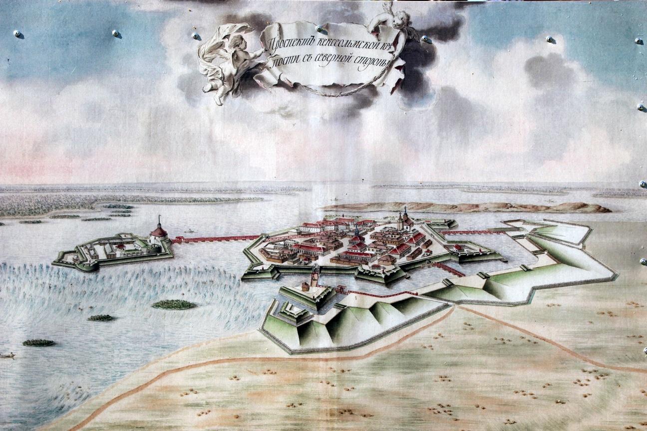 Старинный план Кексгольма