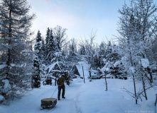 Сев-Запад, К зимовью на реке Смородинке