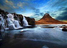 гора Киркьюфетль (Кирха) и водопад