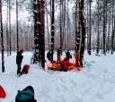 Подмосковье, Лыжный поход - Оршинский мох – Затерянный мир