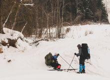 Подмосковье, Лыжный поход - Монастырь и Хаски