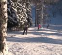 Сев-Запад, Ореховый склон. Обучение катанию на туристических лыжах