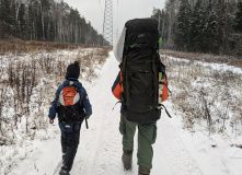 Подмосковье, Детский поход - Строим Вигвам