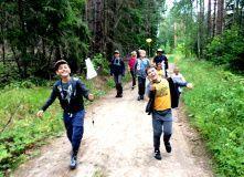 Подмосковье, Детский поход - Посвящение в туристы
