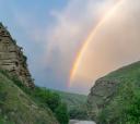 Кавказ, «Небо молодежи» Палаточный лагерь в кемпинге Чегем