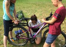 ремонт велосипеда в походных условиях