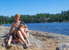 Карелия, Ладожские скалы и пляжи Койонсаари с детьми