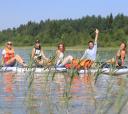 Сев-Запад, 2 в 1: прогулка на сапах по озеру Донцо и реке Оредеж с автосопровождением
