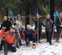 Подмосковье, Шашки - Битва в лесу 23 февраля- Подмосковье