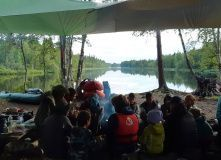 Сплав по реке Кереть на байдарках