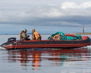 Путешествие на моторных лодках к Кузовам и Соловкам в Белом море