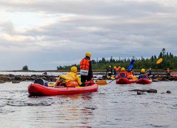 Сплав по реке Воньга и Белое Море на байдарках