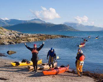 Тур на морских каяках по северной Норвегии + треккинг в горы