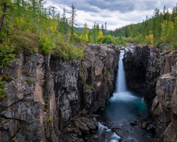 Горы и водопады Плато Путорана, комфортный тур на плоту под мотором