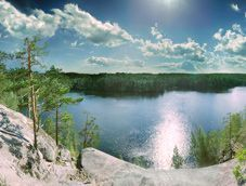 Выходные на озере Ястребиное и Больших скалах